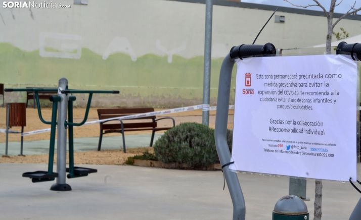 Parque de ejercicio físico para mayores en Santa Bárbara, en la capital. /SN
