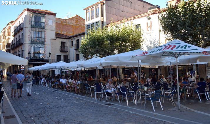 Foto 1 - El Ayuntamiento de Soria adapta terrazas y mercadillos con las vistas a la fase 1