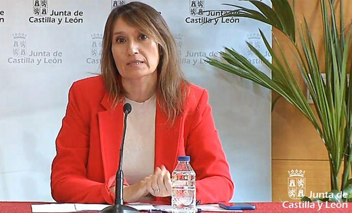 La consejera de Educación, la soriana Rocío Lucas, en comparecencia informativa el lunes.