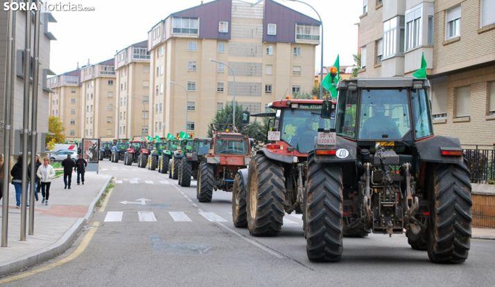 Imagen de la tractorada.