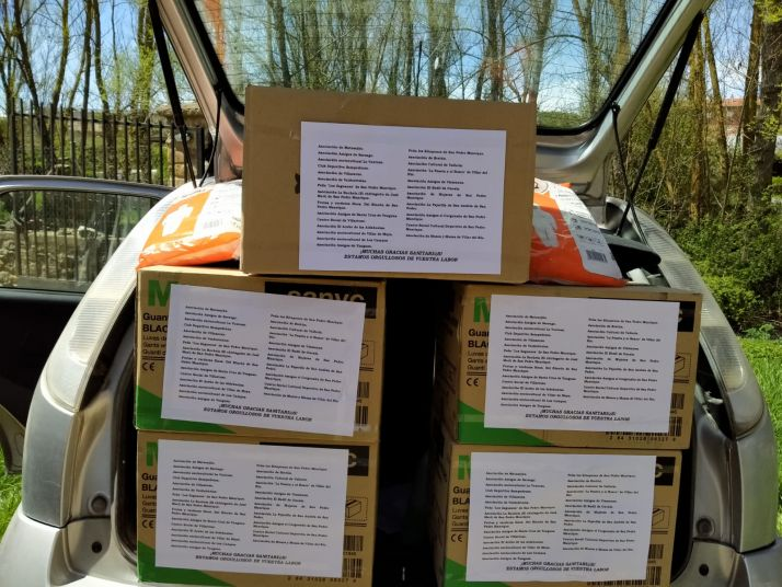 Foto 2 -  Estas 26 asociaciones de Tierras Altas han donado 4.000 guantes y 300 mascarillas a la sanidad soriana