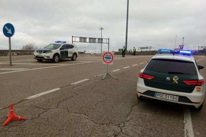 Imagen de uno de los controles a la salida de Soria.