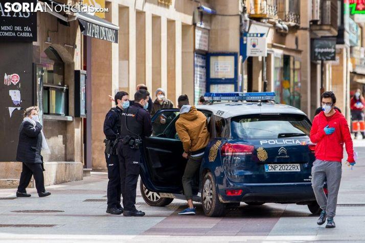 Imágen de uno de los 15 detenidos hasta ahora en Soria por saltarse el Estado de Alarma. Viksar Fotografía