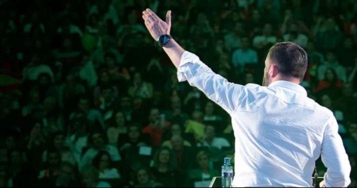 Santiago Abascal en una imagen propagandística.
