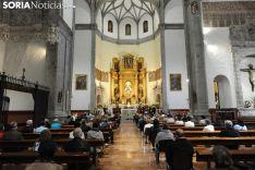 Una imagen de la Misa Mayor de este sábado en Ágreda. /SN