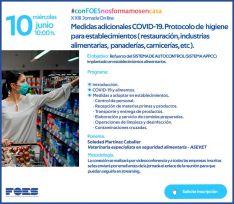 La seguridad alimentaria ante el Covid-19, nueva jornada formativa gratuita de FOES
