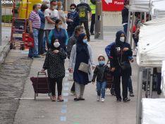 Una imagen de la reapertura del mercadillo este jueves. /SN