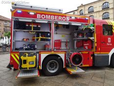Nuevo camión de bomberos de Soria.