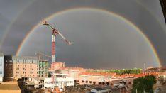 Fotos: Los arcoíris recorren la provincia de Soria dejando espectaculares imágenes