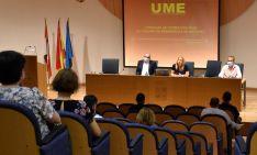 Una imagen de la jornada en la sede de la Junta en Soria.