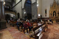Una imagen de la misa solemne este jueves en Ágreda. /Nacho Grijalbo