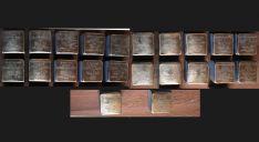 Las 22 piezas de la muestra. /ASRD