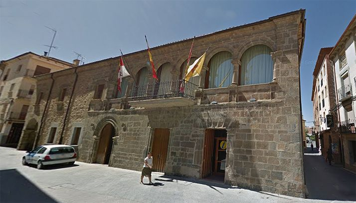 Una imagen de la casa consistorial de Ágreda. /GM