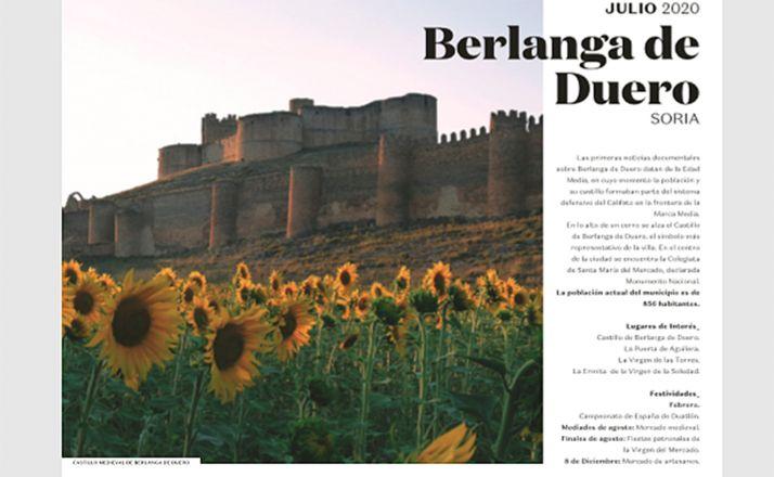 La hoja del calendario reservada a Berlanga.