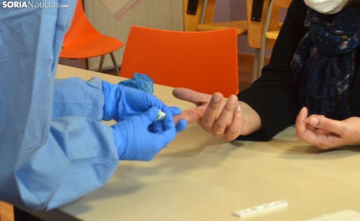 Test rápido de coronavirus.