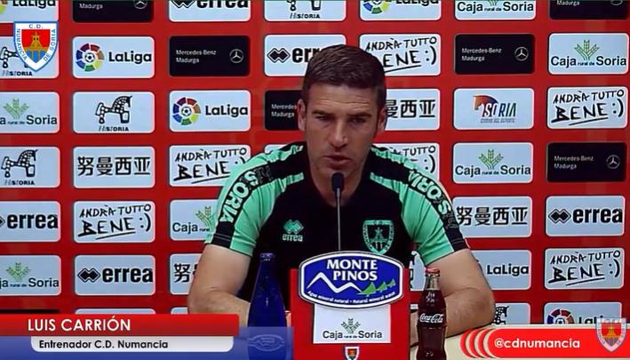 Luis Carrión durante la rueda de prensa.