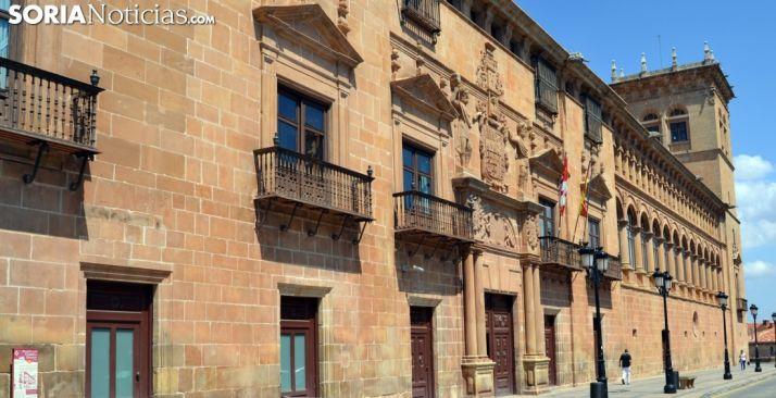 El Palacio de los Condes de Gómara, sede de los juzgados de la capital. /SN