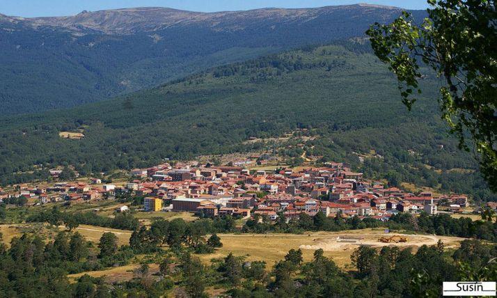 Una imagen panorámica de la localidad pinariega. /Susín