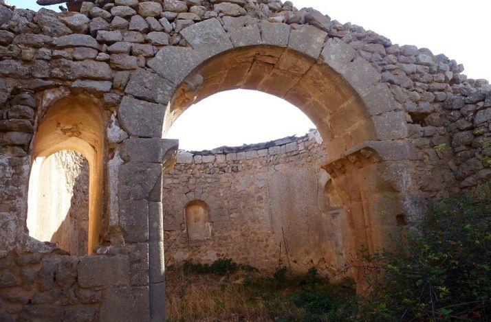 Ruinas de la ermita de San Millán, despoblado de Borque (Velila de los Ajos). /Jta.