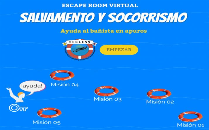 Foto 1 - Salvamento y Socorrismo de CyL organiza el escape room virtual 'Ayuda al bañista en apuros'