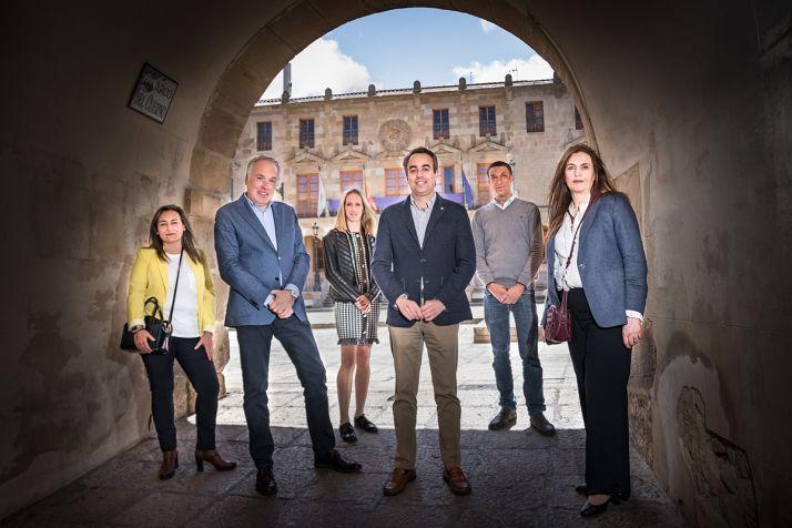 Grupo municipal popular en el Ayuntamiento de Soria.