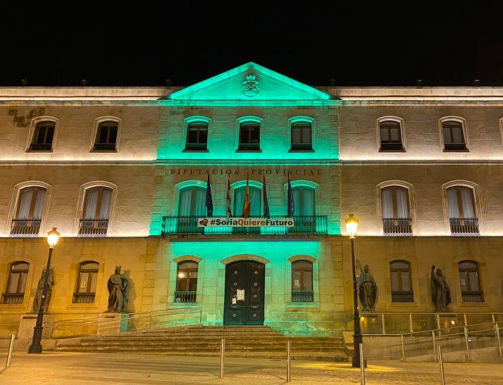 Foto 1 - Soria se viste de verde por los afectados por ELA
