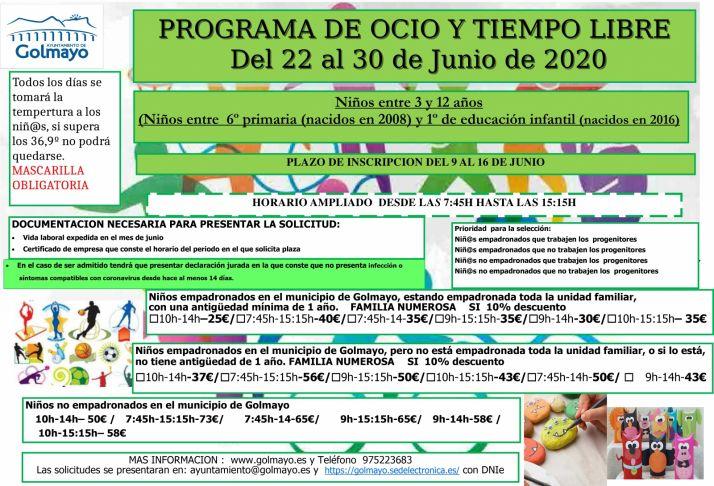 Las condiciones para tomar parte en el programa.