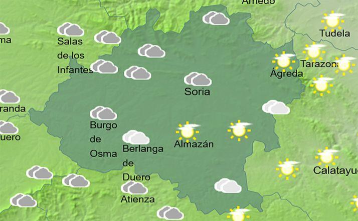 Previsión del cielo a las 16:00 horas. /AEMET