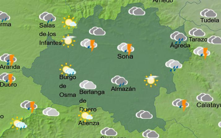 Foto 1 - El tiempo en Soria: Se mantiene el riesgo de tormentas