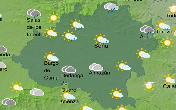 El cielo de la provincia a las 13:00 horas. /AEMET