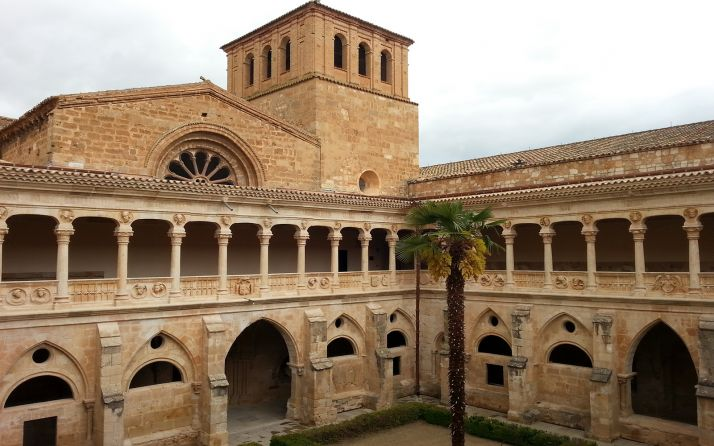 Una imagen del claustro monacal de Santa María de Huerta. /Jta.