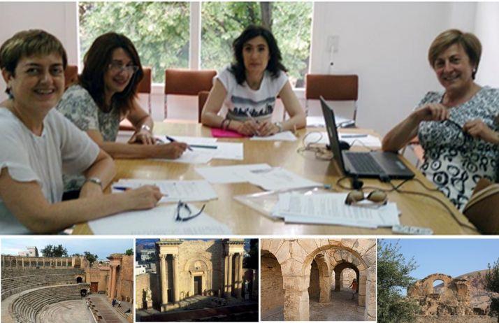 Las autoras del estudio, en el centro Henar Gallego, directora del departamento de Historia Antigua y Medieval de la Universidad de Valladolid.