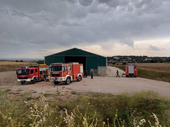 Una imagen del lugar del incendio. /Dip.