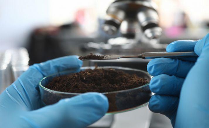 Un laboratorio de análisis de suelos.