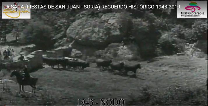 Foto 2 - Nuestras Fiestas de San Juan lanza un vídeo con 'Sacas' a partir de 1943