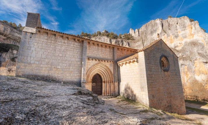 Ermita de San Bartolomé, en el Río Lobos, uno de los espacios más visitados de la provincia.