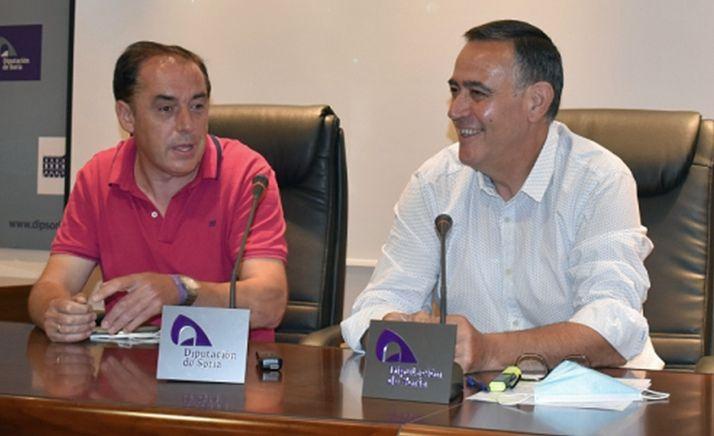 Benito Serrano y Antonio Pardo este miércoles en la presentación de la nueva web y la campaña promocional. /Dip.