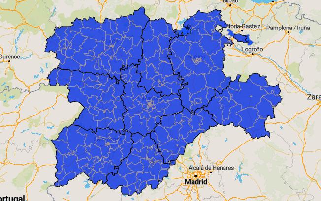 Mapa de la situación actual.