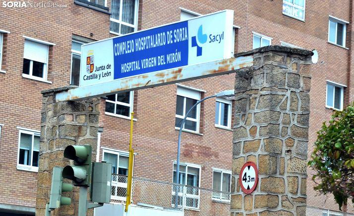 Entrada principal al recinto del hospital del Mirón. /SN