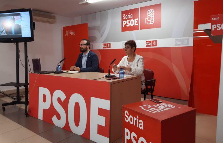 Hernández y Delgado durante la rueda de prensa.