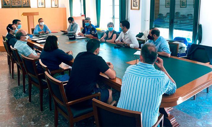 Una imagen de la reunión de este martes en el consistorio. /Ayto.