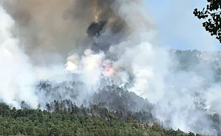 Una imagen del incendio en el parque natural. /GC