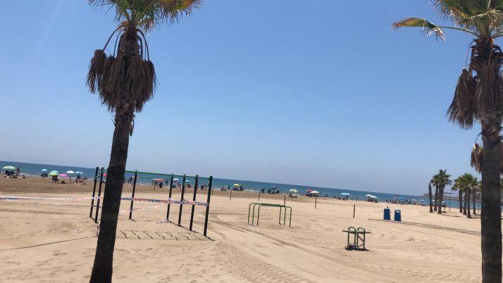 Así estaba la playa de Oropesa esta mañana.