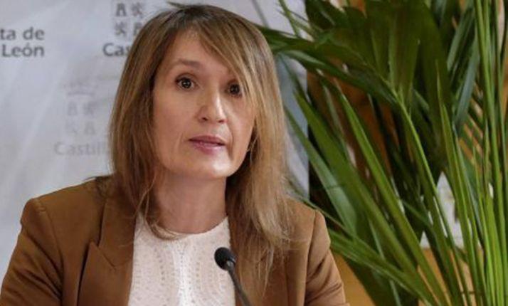 La consejera de Educación, la soriana Rocío Lucas, en una comparecencia informativa.