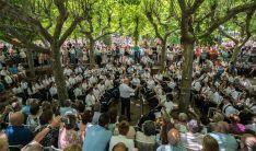 Un concierto al aire libre de la Banda, que actúa esta semana en el Soto Playa.