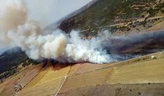 Vista aérea del incendio. /Jta.