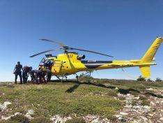 Imagen del rescate. /Emergencias CyL