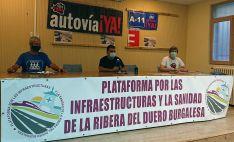 Representantes de los tres colectivos en rueda de prensa esta tarde de jueves. /Soria Ya