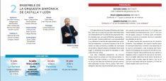 El programa de los conciertos en el IES Machado