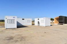 Oficinas provisional de la escuela FlyBy en Garray. /Diputación